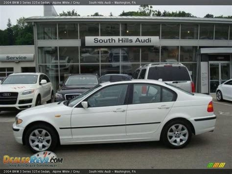 2004 bmw 325xi 2004 bmw 3 series 325xi sedan alpine white grey photo 1