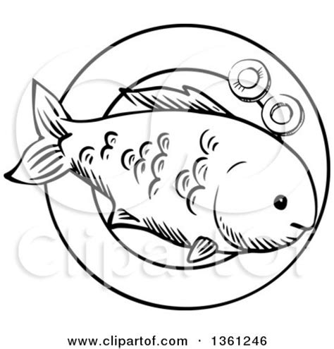 cooked fish coloring page clipart of a black and white sketched cooked fish on a
