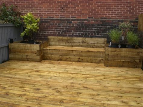 Cost Of Sleepers sheffield landscaper gallery patios decking ponds fencing sleepers