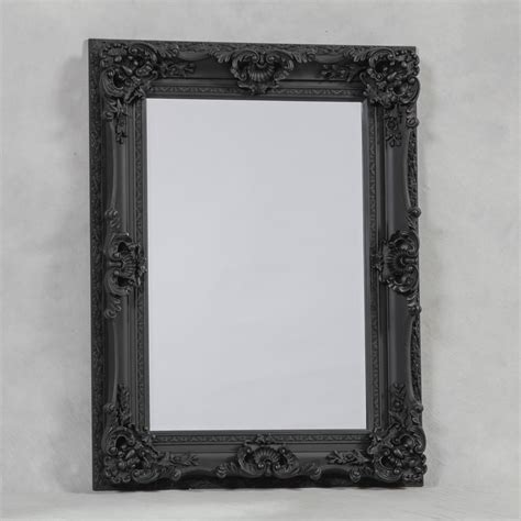 buy large black ornate mirror reproduction antique mirrors