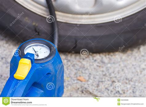 filling tires  air royalty  stock image image