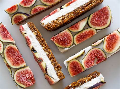 Dessert Slice secret squirrel food vanilla coconut fig slice