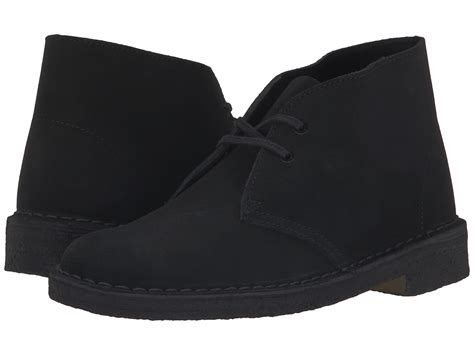 clarks desert boot in black black suede 1 lyst