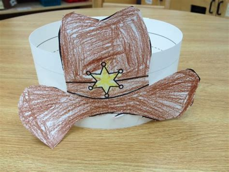 cowboy crafts cowboy hat and lots of other kinder ideas