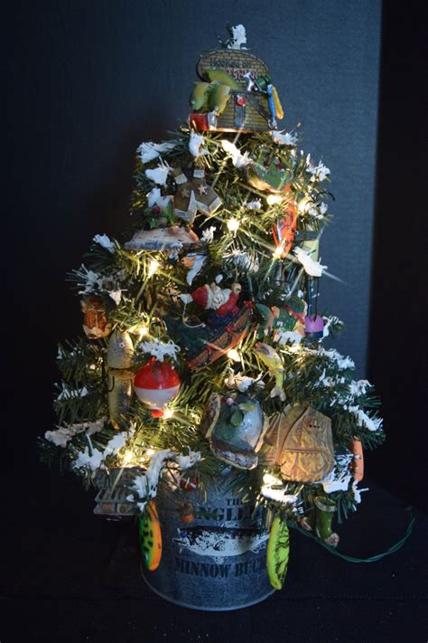 fishing anglers fishermen themed christmas tree