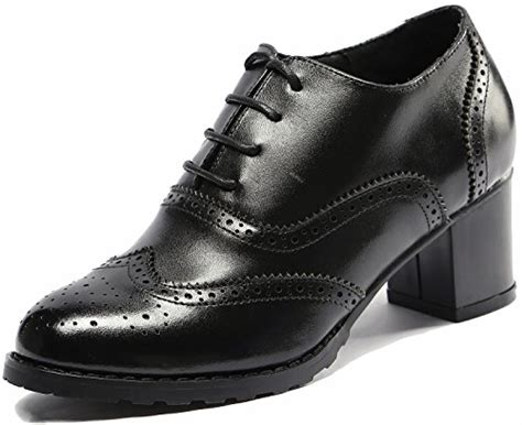 womens vintage oxford shoes u lite womens perforated lace up wingtip leather mid heel
