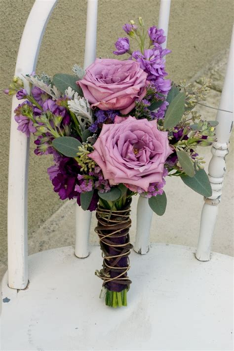 Wedding Bridesmaid Flowers by Earthy Purple Wedding Flowers Floral Design By