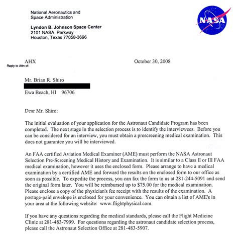 Recommendation Letter For Highly Qualified Update I Made It To The Highly Qualified Stage Astronaut For Hire