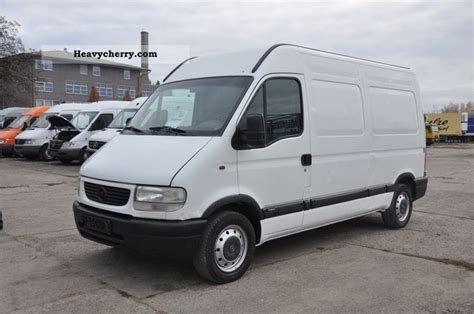 opel movano 2001 opel movano 2 8 dti 3300 2001 box type delivery van high