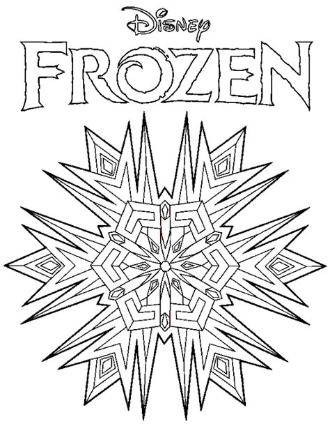 Frozen Logo Coloring Page | coloring books frozen disney logo to print and free download