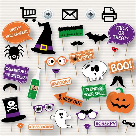 halloween photo booth props printable pdf halloween printable photo booth props printable halloween