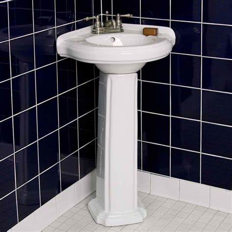 corner pedestal sinks for small bathrooms 20 fascinating bathroom pedestal sinks home design lover