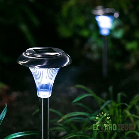 set of 10 6 lumen brightness stainless steel solar
