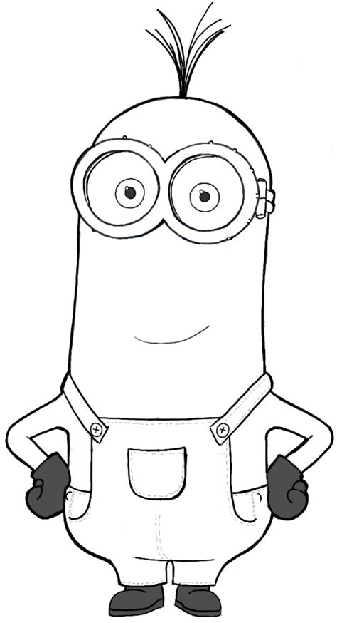 minion coloring page kevin how to draw kevin from the minions movie 2015 in easy
