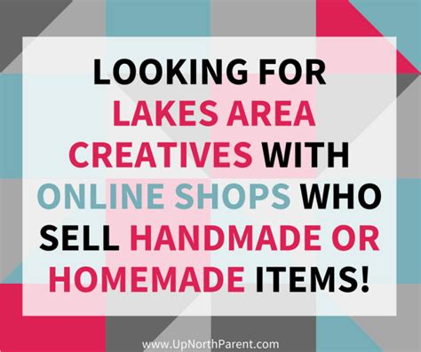 Where To Sell Handmade Items Locally - shop local and handmade this season lakesproud