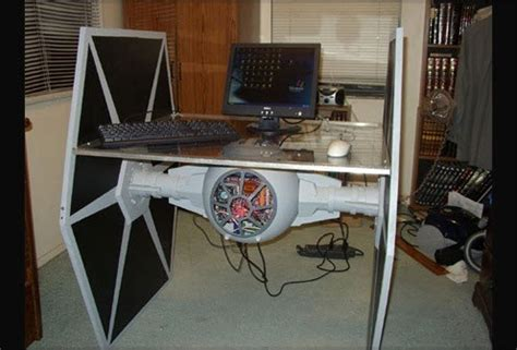 Feel the force with this star wars tie fighter desk and pc biology of technology