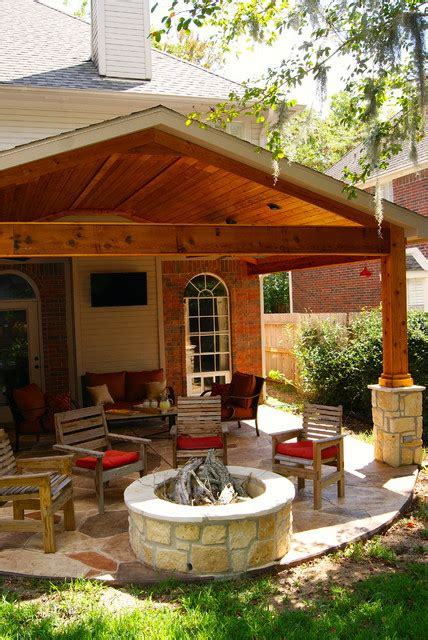 Fire Features By Texas Custom Patios Traditional Patio Patio Design Houston
