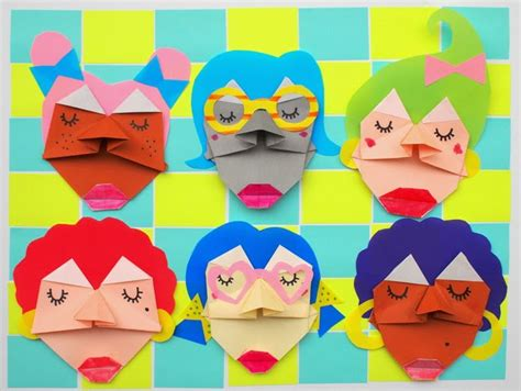 Origami Faces - easy origami for 187 bg firmite
