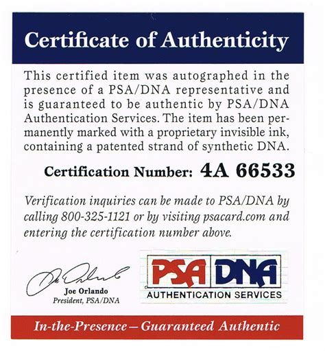 certification letter of authenticity authenticity autographed sports and memorabilia