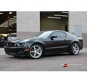 20 Inch Staggered Rohana RC22 Matte Graphite On 2016 Ford Mustang GT W