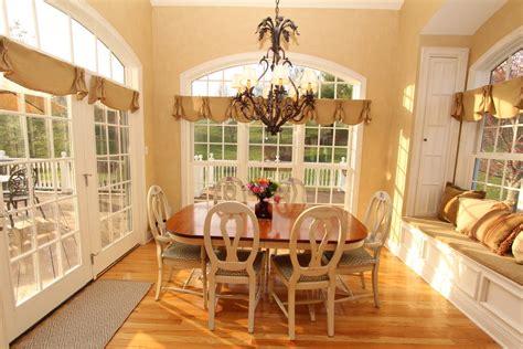 Dining Room Window Treatment Ideas Burlap Window Treatments Kitchen Farmhouse With Apron Sink