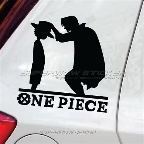 Auto Sticker One Piece by 2018 Car Stickers One Piece Luffy Straw Hat Cartoon Anime