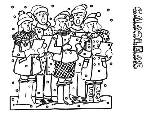 Christmas Carol Coloring Pages People Coloring Pages Carol Coloring Pages