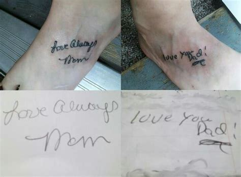tattoo designs dedicated to parents my dedicated to my parents their handwriting that
