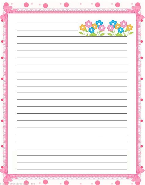 border writing paper printable free free lined handwriting paper with border