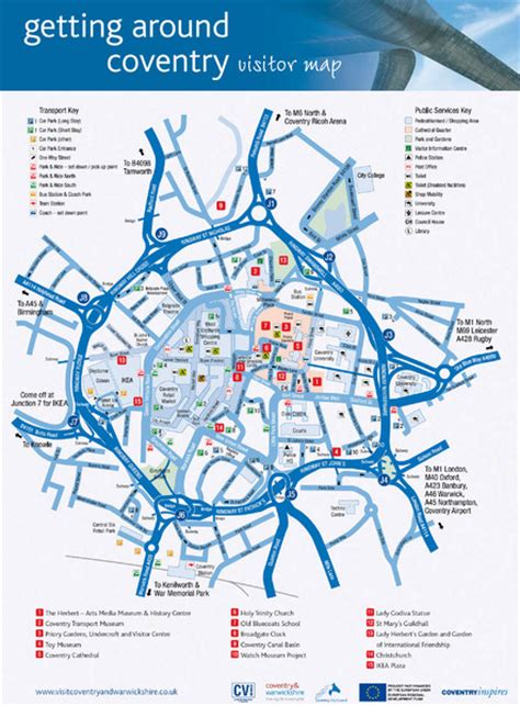 map uk coventry coventry tourist map coventry uk mappery