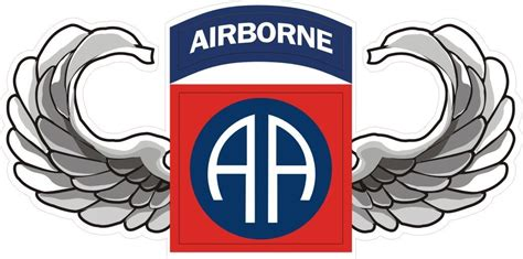 82nd airborne wings army logo clipart library