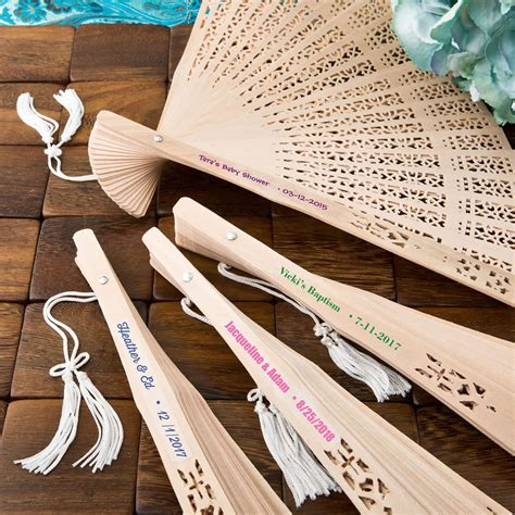Wedding Favors Fans by Personalized Sandalwood Fans
