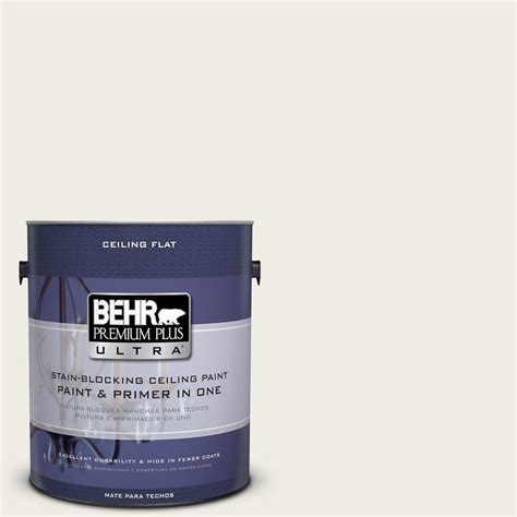 behr silky white behr premium plus ultra 1 gal ppu7 12 ceiling tinted to