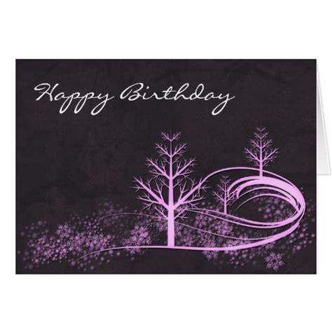 Winter Birthday Cards Winter Scene Happy Birthday Greeting Card Zazzle