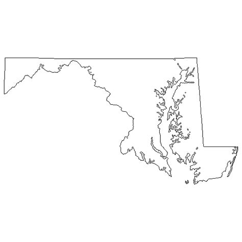 maryland map outline state of maryland map outline swimnova