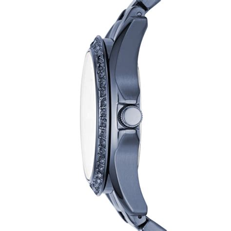 Fossil Rilley Stainless Blue Es4294 multifunction blue stainless steel fossil