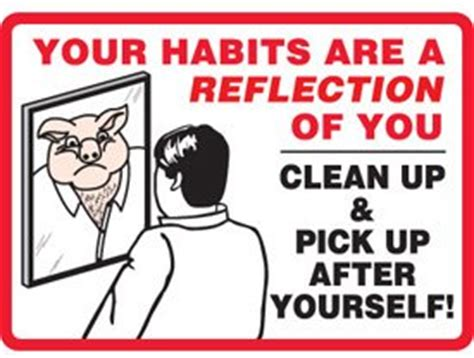 How To Clean Up L by Adhesive Vinyl Clean Up After Yourself Sign 7 Quot H X 10 Quot W