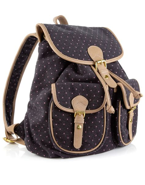 Tweed Corsage Bag From Accessorize by Pink Pin Spot Tweed Rucksack Grey Monsoon