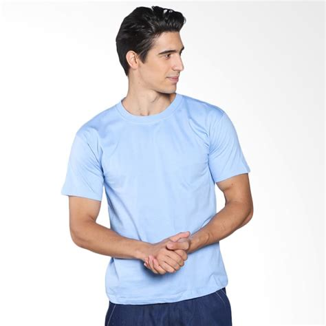 Kaos Polos Katun Wanita O Neck 86101 T Shirt S Biru harga kaos polos katun wanita o neck size l 81401b t