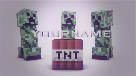 free minecraft intro template c4d ae by adno by adnoart