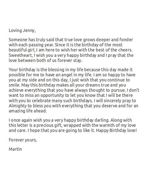 sample love letters ms word