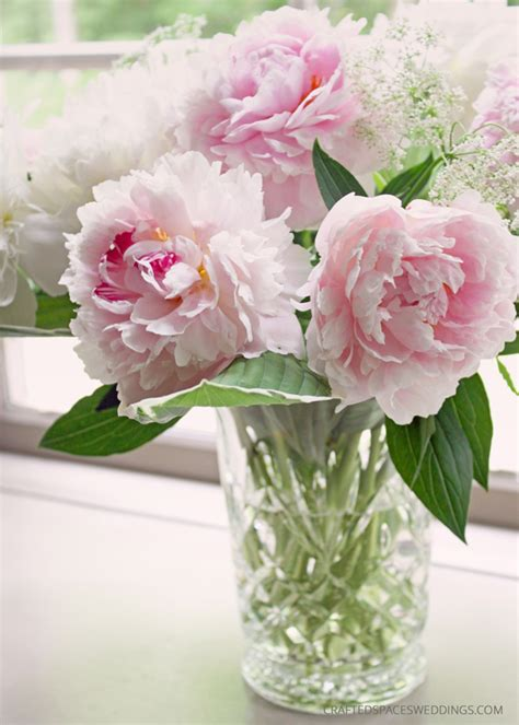peony floral arrangement crafted spaces weddings romantic diy peony wedding