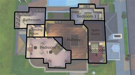 Housing Floor Plans Free by Mod The Sims 4 Windsor Grove 4 Bedroom Family Home