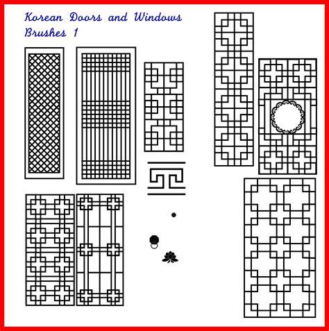 kpop pattern password korean doors windows brushes 1 by kimyoonmi on deviantart