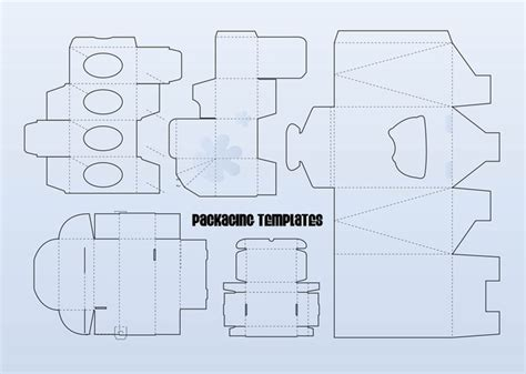packaging templates vector free download
