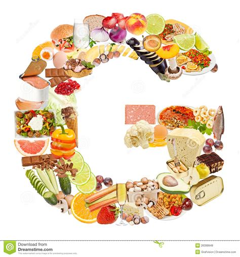 up letter with food letter g made of food stock photo image of arial