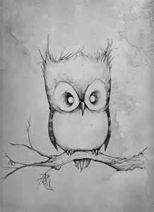 Art beautiful beauty cute draw owl sad tree tumblr