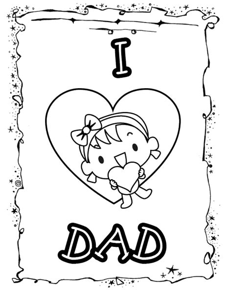 free coloring pages of daughter