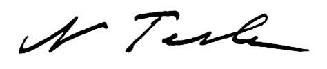 Nikola Tesla Signature Nikola Tesla Signature Tesla Image