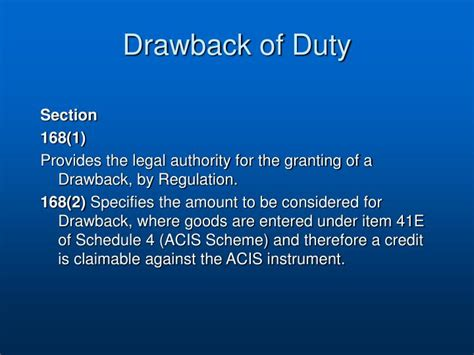 Duty Drawback Section 75 by Ppt Drawback Of Duty Powerpoint Presentation Id 185629